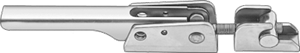 "McMASTER 6304A55, Adjustable-Grip Draw Latch, Padlockable, Zinc-Plated Steel, 11-15/16"" Long x 1-3/8"
